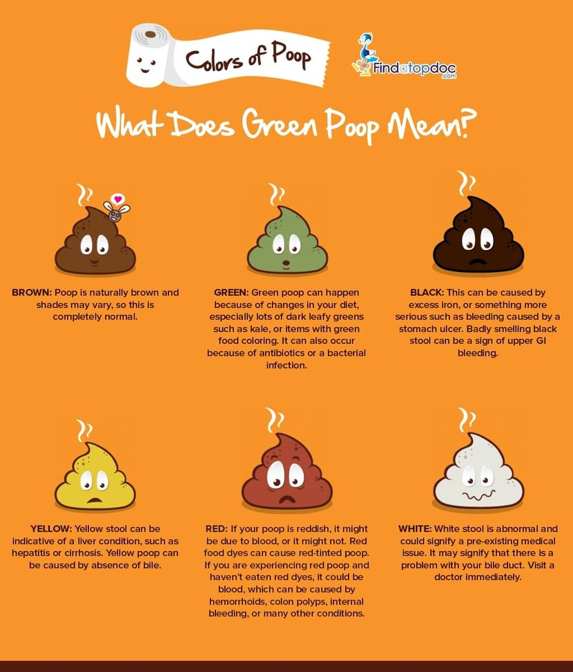 Different Colors Of Poop What Could Green Poop Mean